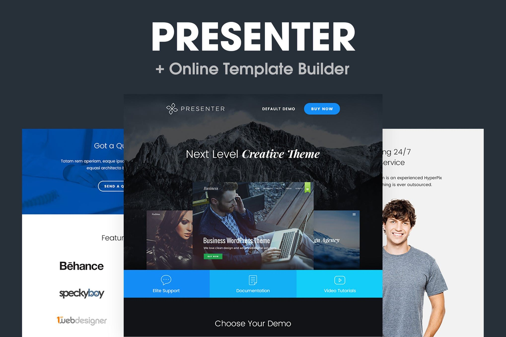 Cover Image For Presenter Responsive Email Template Responsive