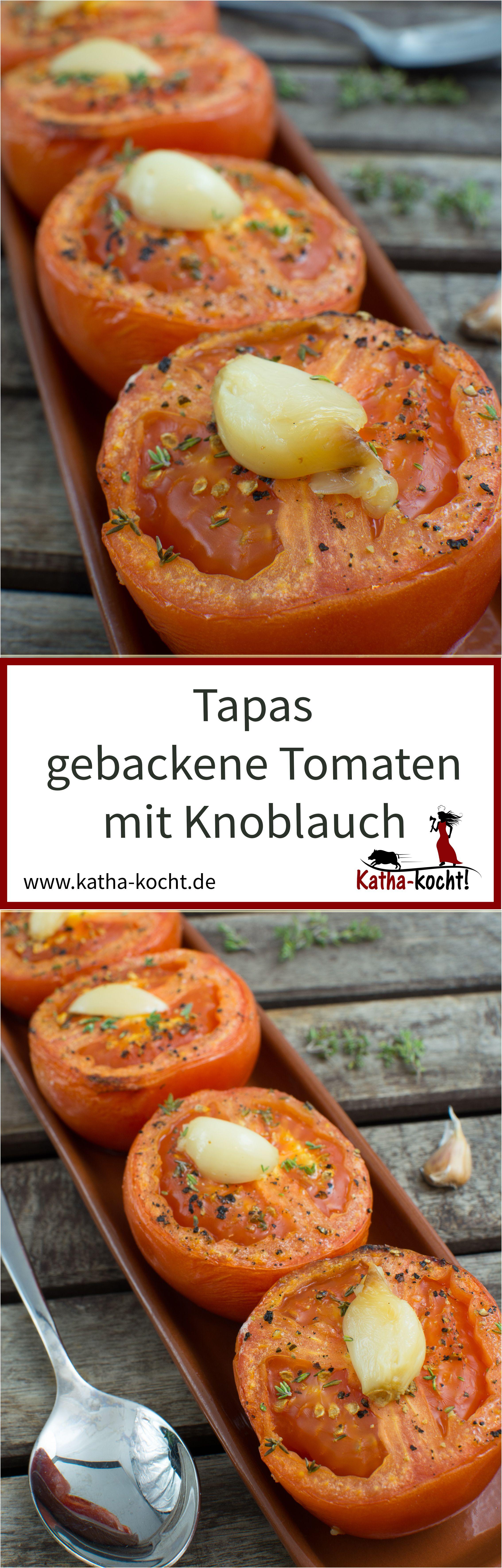 tapas gebackene knoblauch tomaten vegetarische tapas tapas und knoblauch. Black Bedroom Furniture Sets. Home Design Ideas