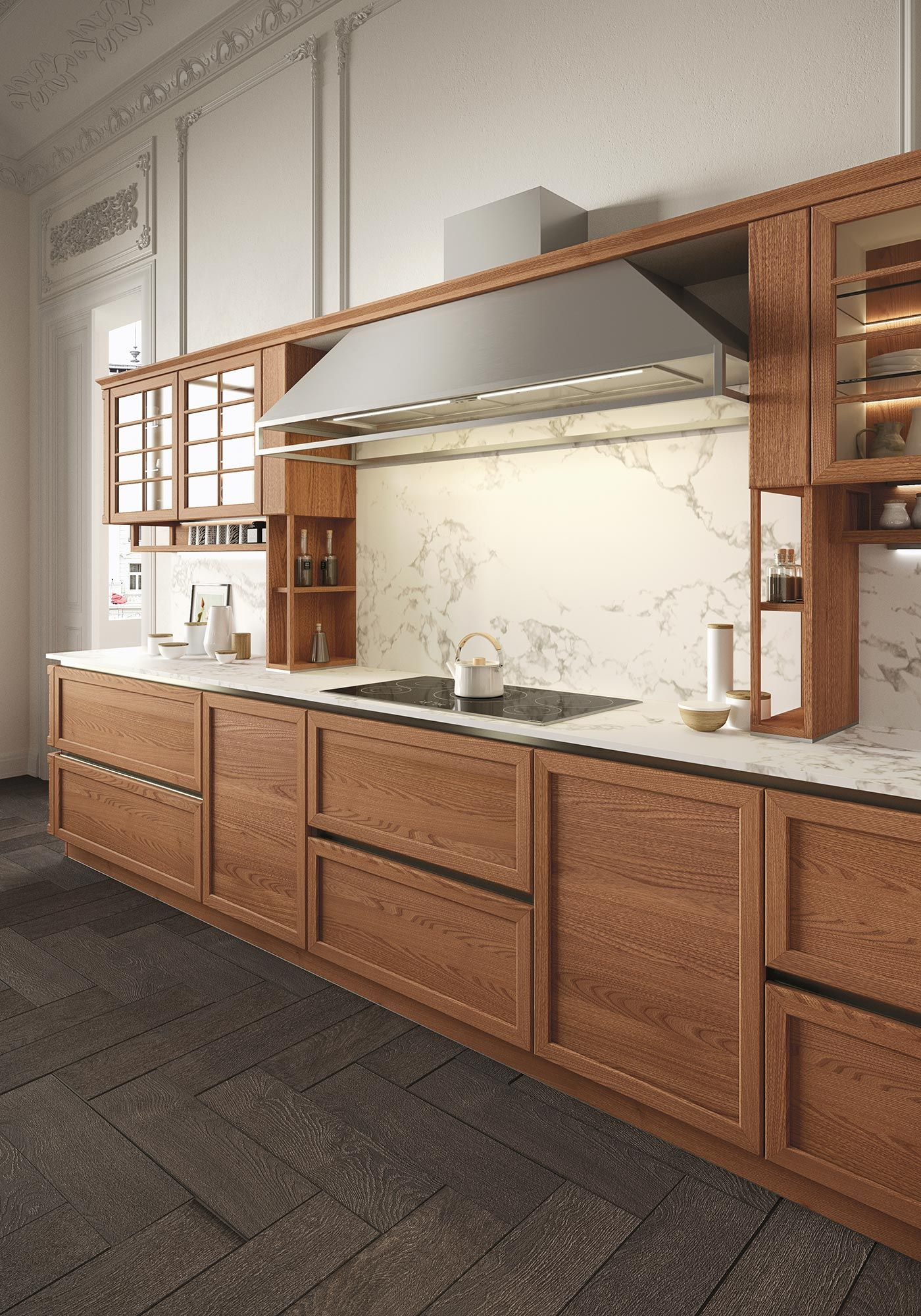 HERITAGE's exclusive elm wood framed kitchen door cabinets are a ...