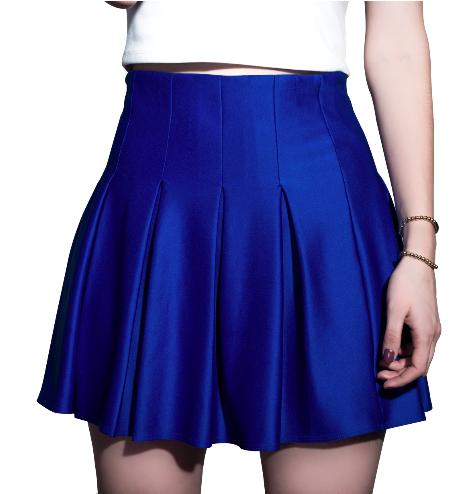 Falda Vertigo Azul Elu00e9ctrico | Falda con tablones | Pinterest | Vu00e9rtigo
