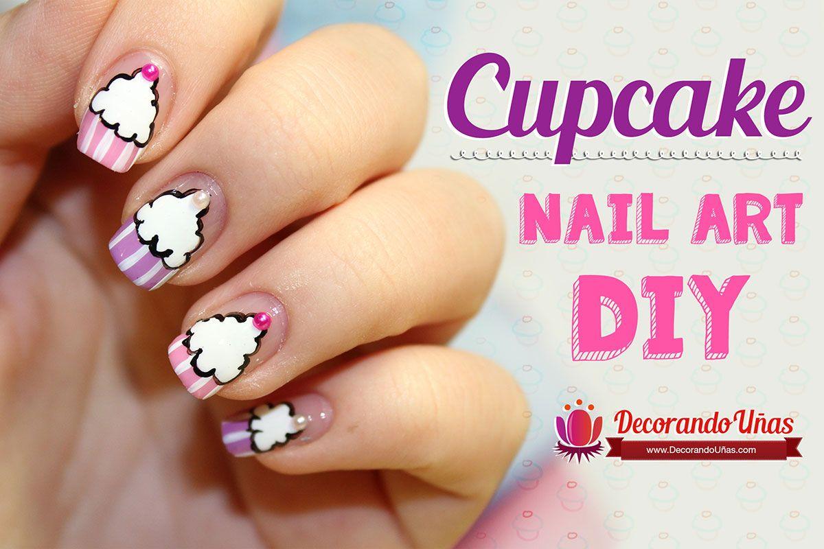 Uñas decoradas con cupcakes – Nail art DIY – Video tutorial paso a ...