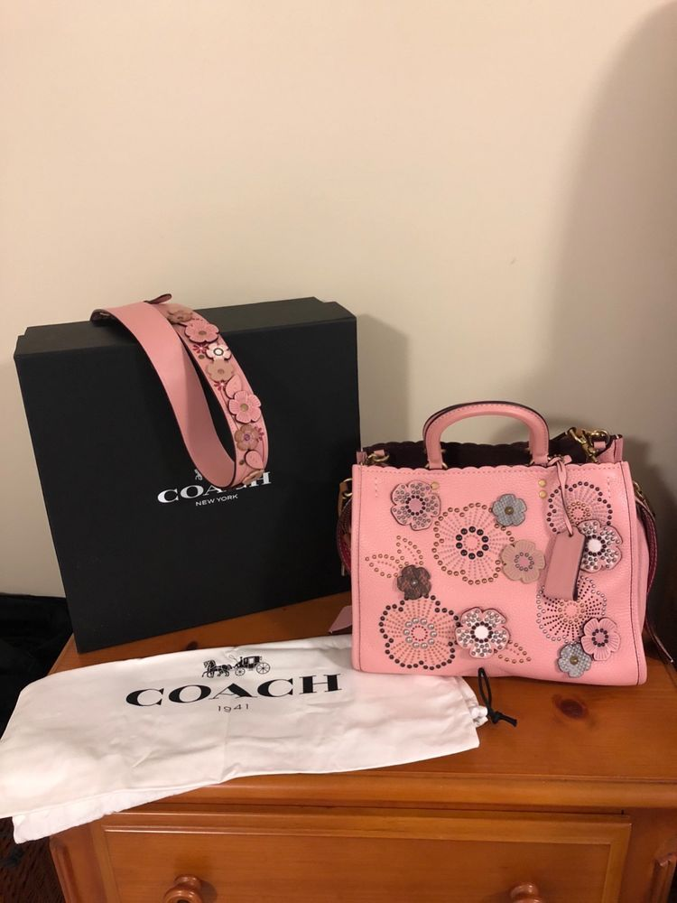 cca752cae1 Genuine Coach Rogue Snakeskin Tea Rose Rivets comes with additional strap   fashion  clothing  shoes  accessories  womensbagshandbags  ad (ebay link)