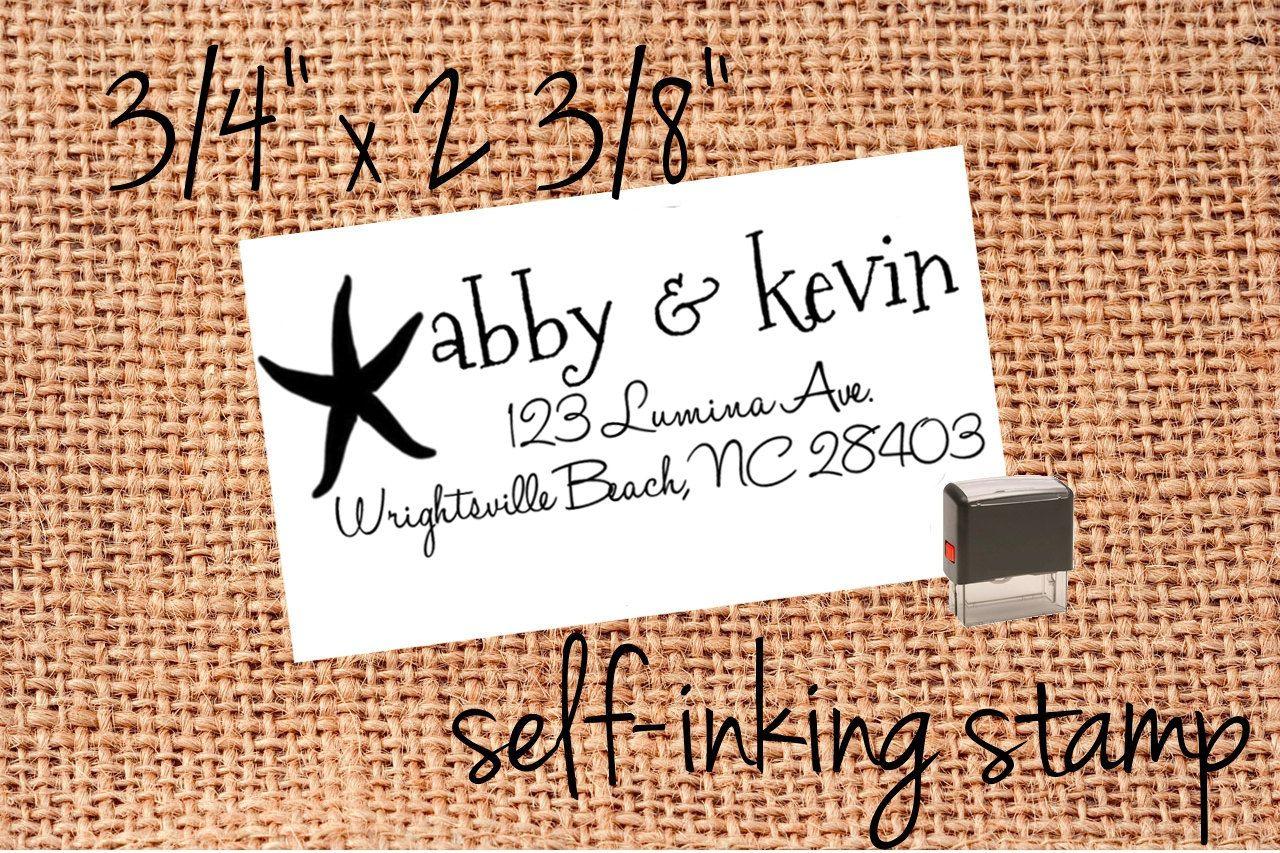 Custom Return Address Stamp for save the dates invitations