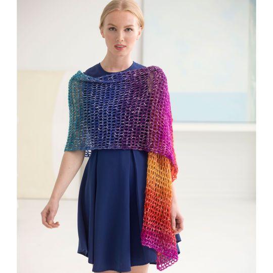 Lion Brand® Shawl in a Ball® Crochet Openwork Shawl | Chal ...