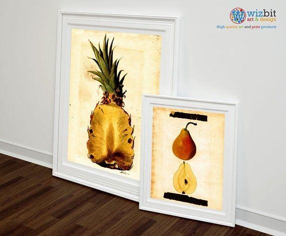 Pineapple wall art by James Marion Shull https://www.etsy.com/uk ...