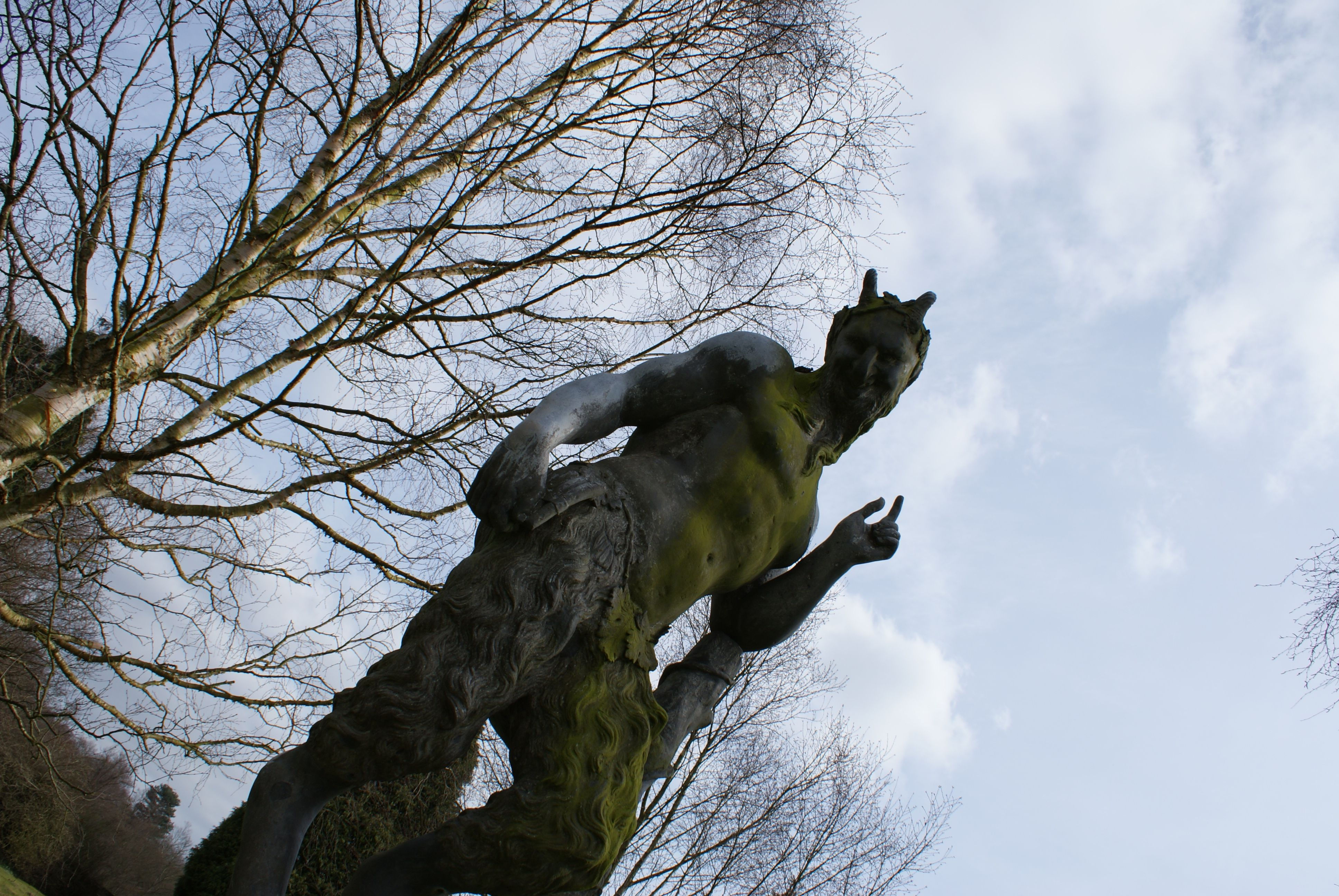 Satyr statue at Newstead Abbey.