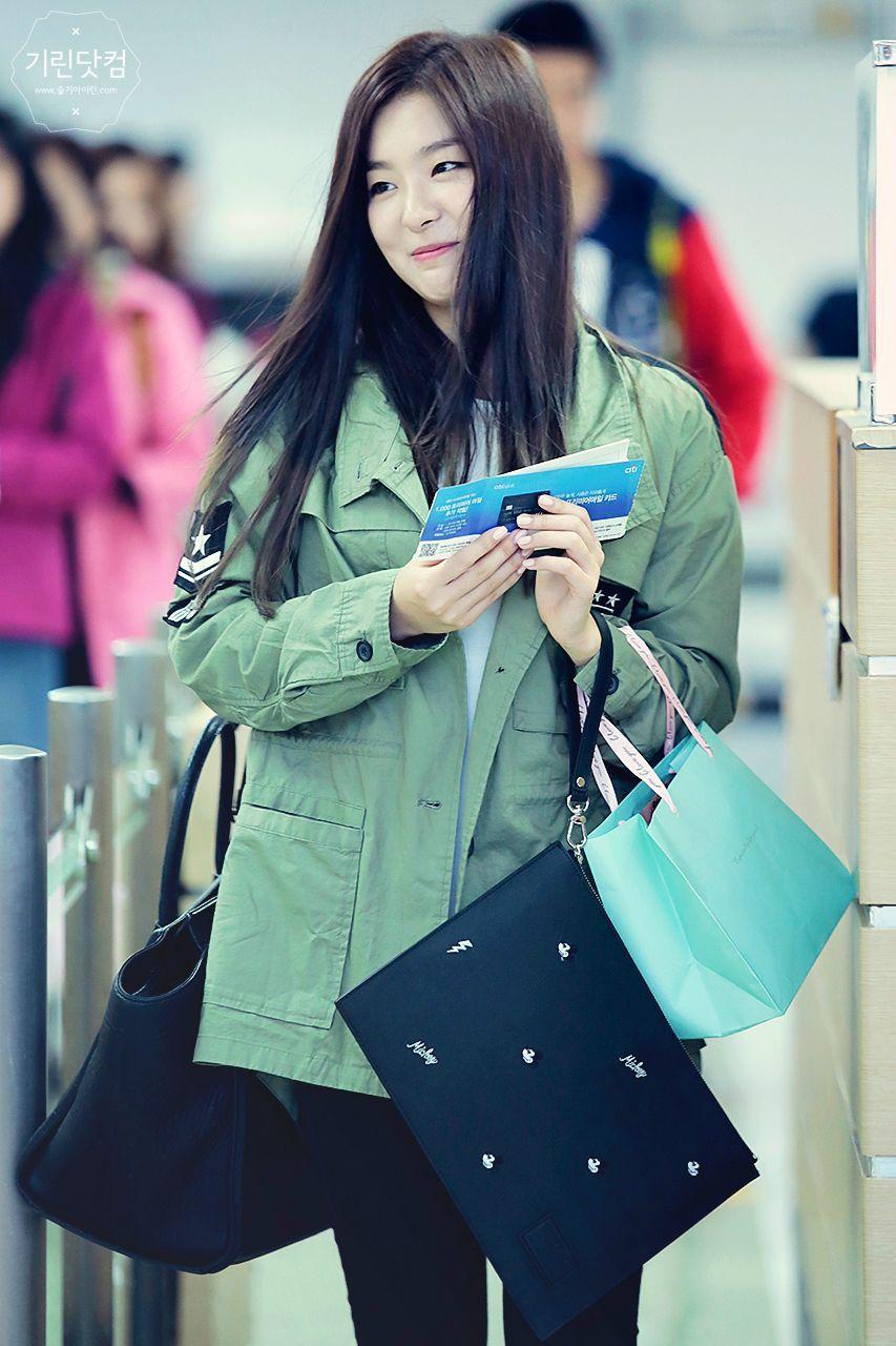Red Velvet Seulgi Airport Fashion 141004 2014 Kpop Red Velvet Seulgi Velvet Fashion Airport Style