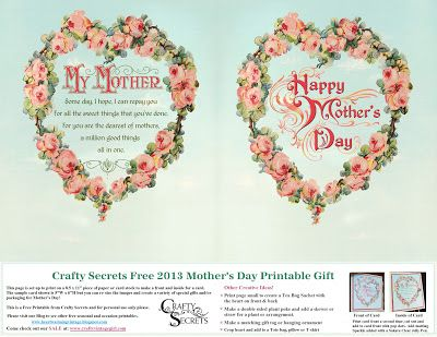 Get Our Free 2013 Mother's Day Printable, See Samples and New Sew Creative CD!