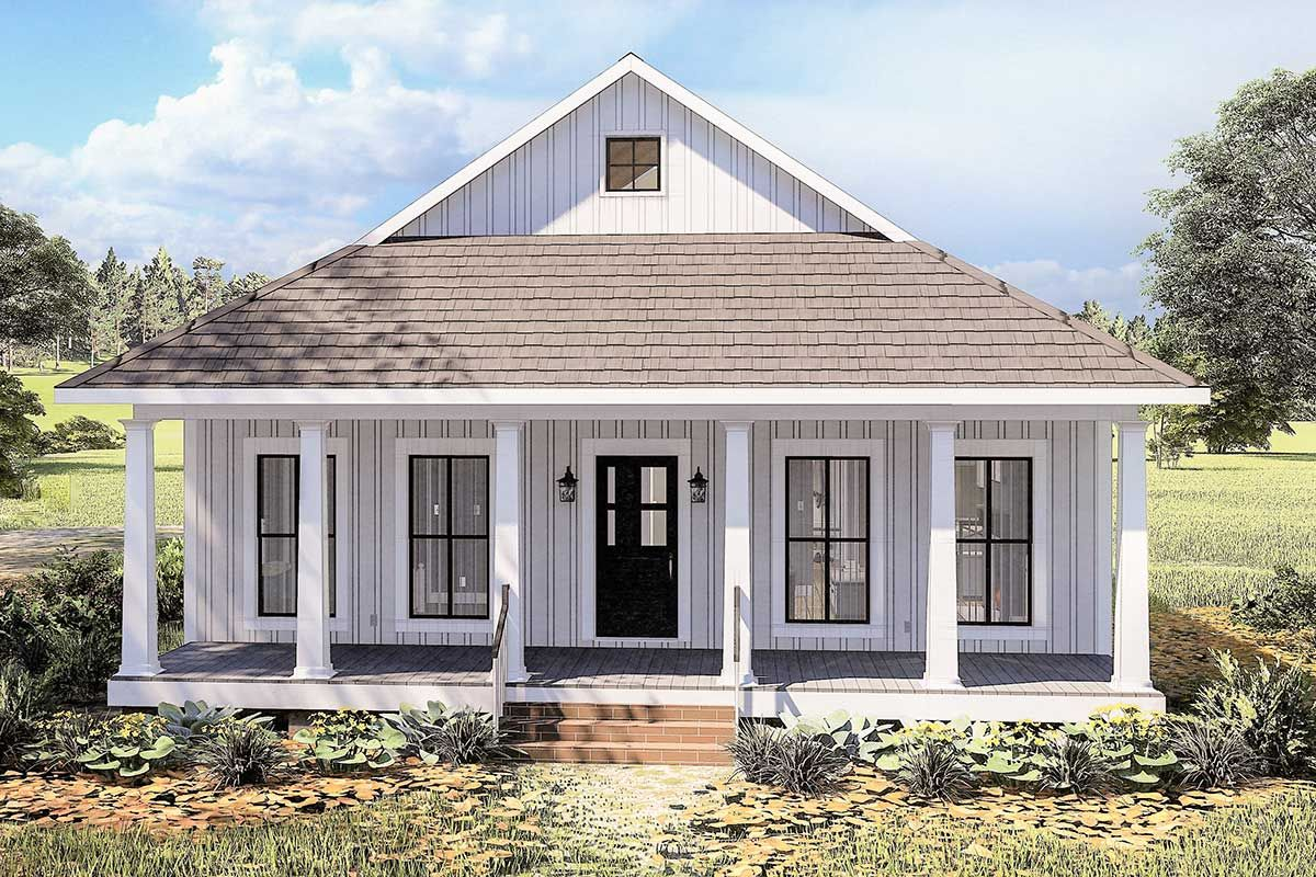 Plan 25013dh Cottage With 8 Deep Front And Back Porches In 2020 Cottage Style House Plans Cottage House Plans Small Cottage Homes