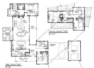 Modern Farmhouse Contemporary Floor Plan Austin By Tim Brown Architecture