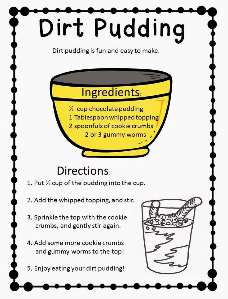 Dirt Pudding Freebie Great Functional Text Activity
