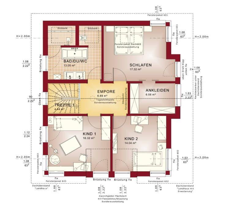 EINFAMILIENHAUS MIT SATTELDACH Haus ConceptM 152 Bien