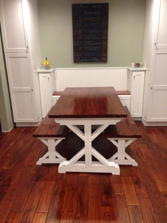 New kitchen new table do it yourself home projects from ana do it yourself home projects from ana white solutioingenieria Images