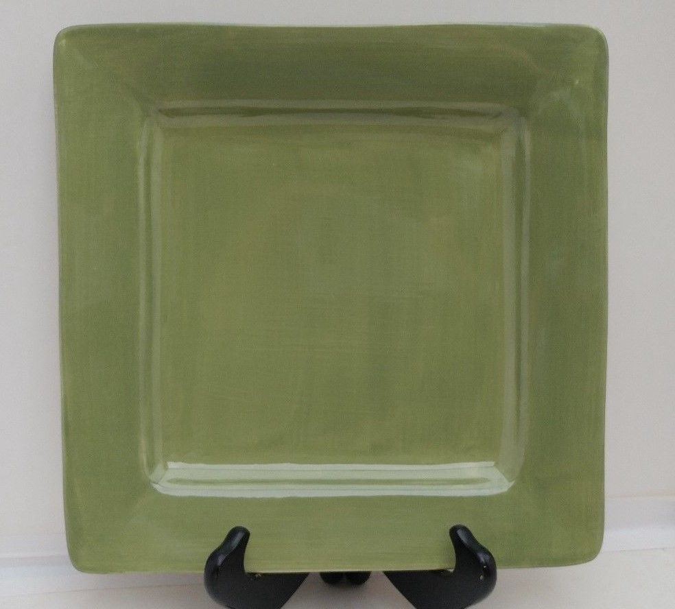 Pier 1 Imports Square Dinner Plate Green Essential Colours #Pier1Imports : green square dinner plates - Pezcame.Com