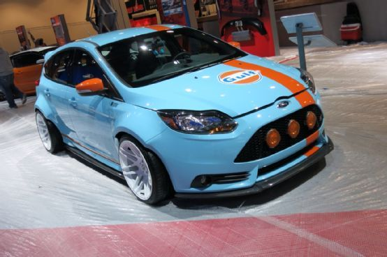 Gulf Livery Ford Focus St Is True Blue At Sema 2013 Ford Focus