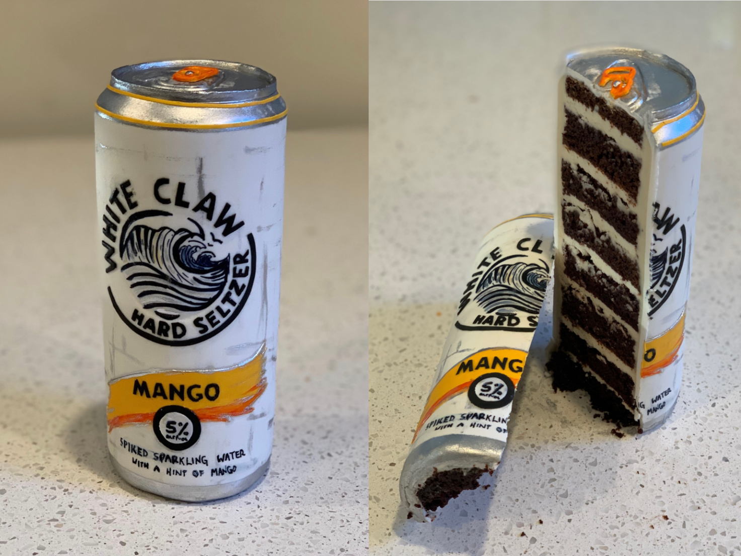 A New Jersey Baker Creates Incredible Optical Illusion Cakes From A White Claw Can To A Carton Of E Luke Vincentin Beer Cake Coors Light Beer Can Doritos