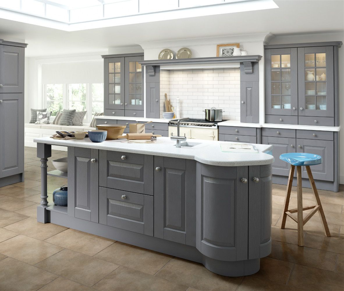 Kitchen Direct Cabinets: Hampton Dust Grey Painted Kitchen. Choose Style At