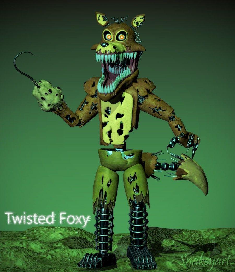 Twisted Foxy Fnaf Fnaf Drawings Fnaf Wallpapers