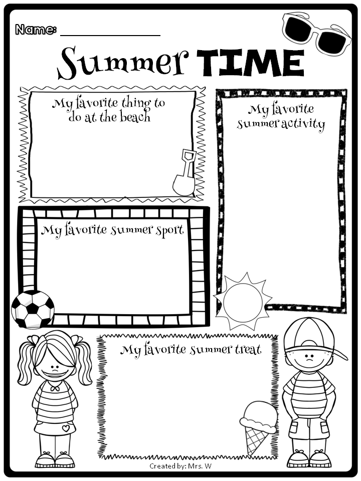 End Of The Year Fun Summer School Crafts Summer Worksheets Teaching Holidays
