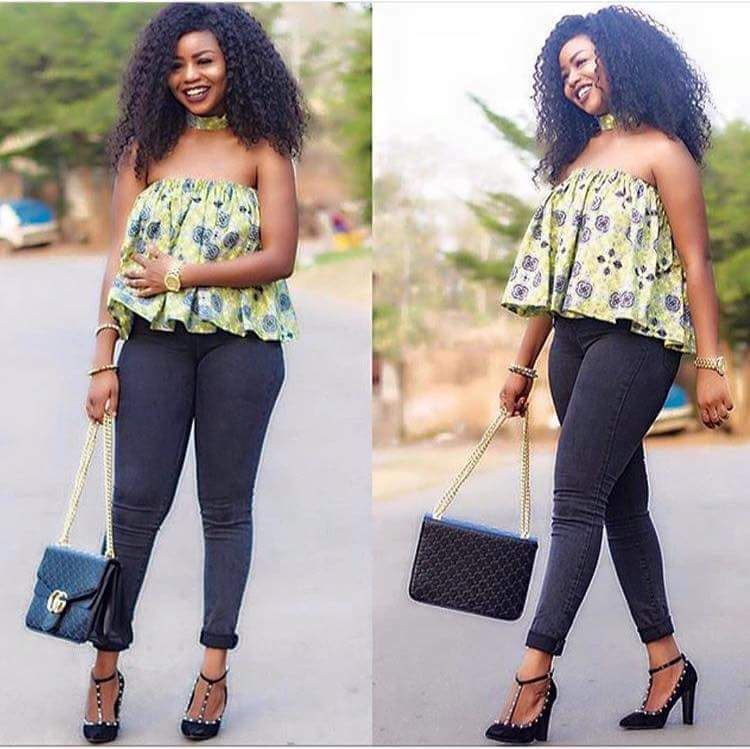 0643e1891 Ankara Top Styles with Jeans   Simple Ways to Rock Them