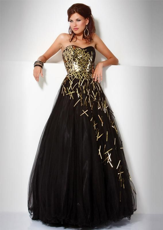 Black masquerade brand dress