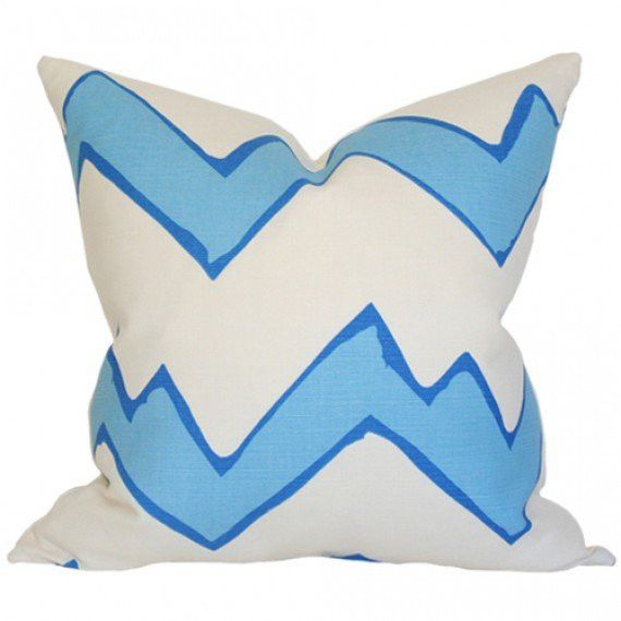 Montecito Zig Zag Celeste Limited Designer Pillow