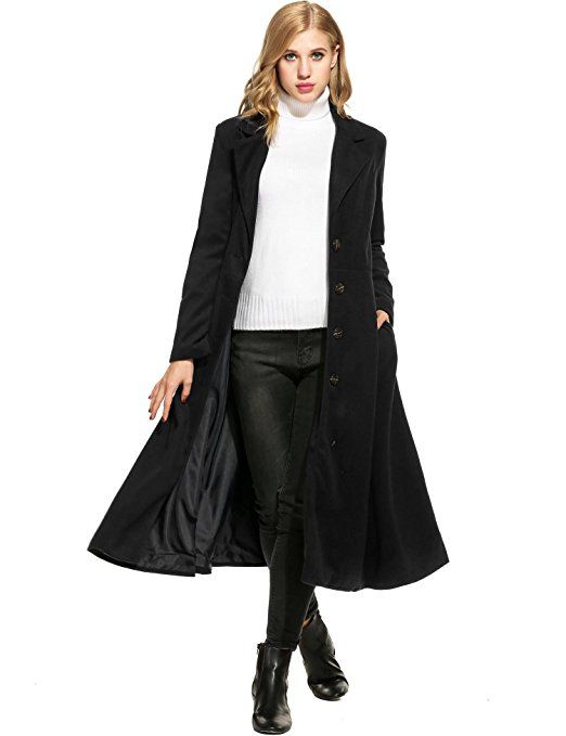 Mymotto Wollmantel Fur Damen A Linie Trenchcoat Wintermantel Eleganter Langmantel Amazon De Bekleidung Langer Trenchcoat Mantel Frauen Bekleidung