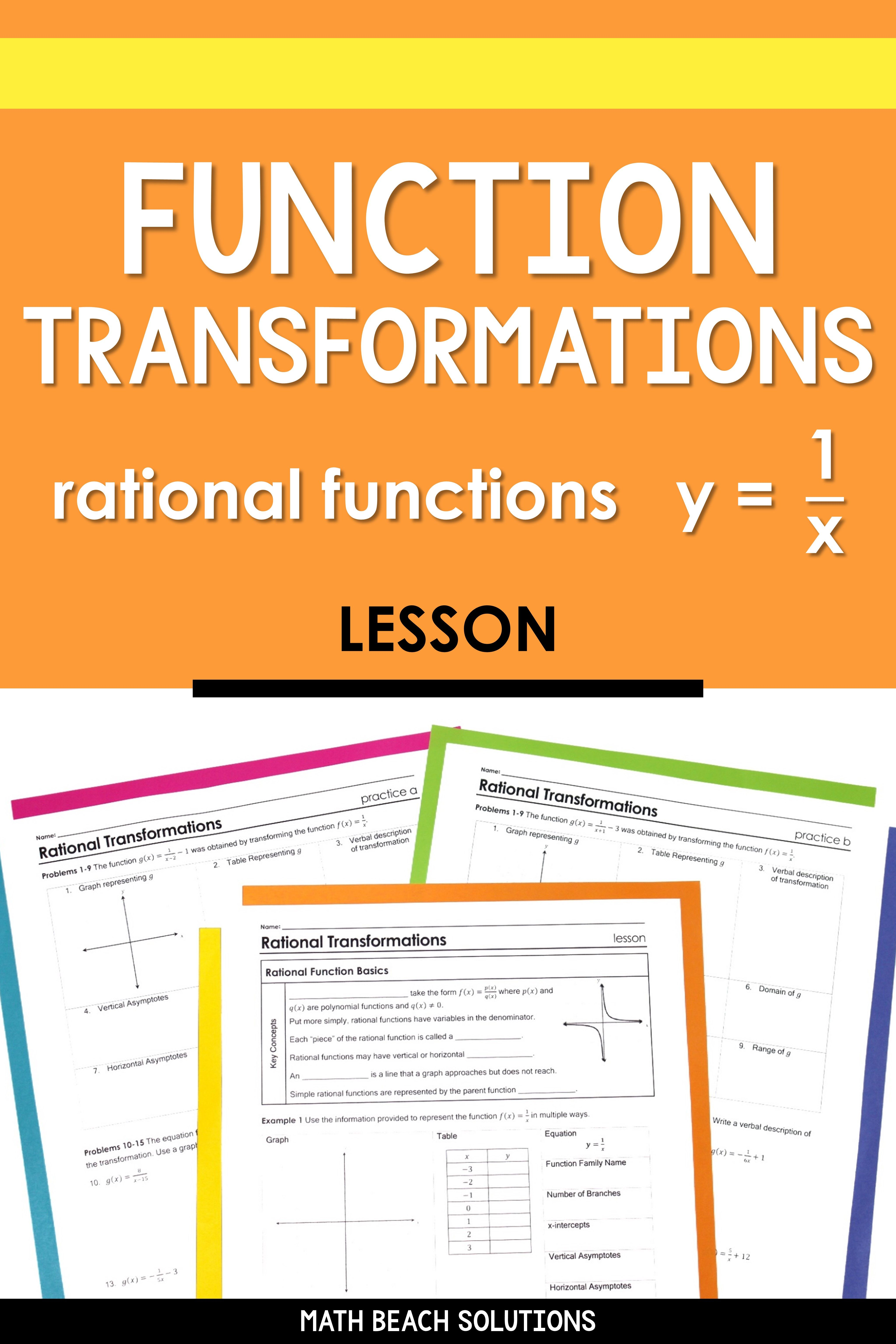 Rational Function Transformations Lesson