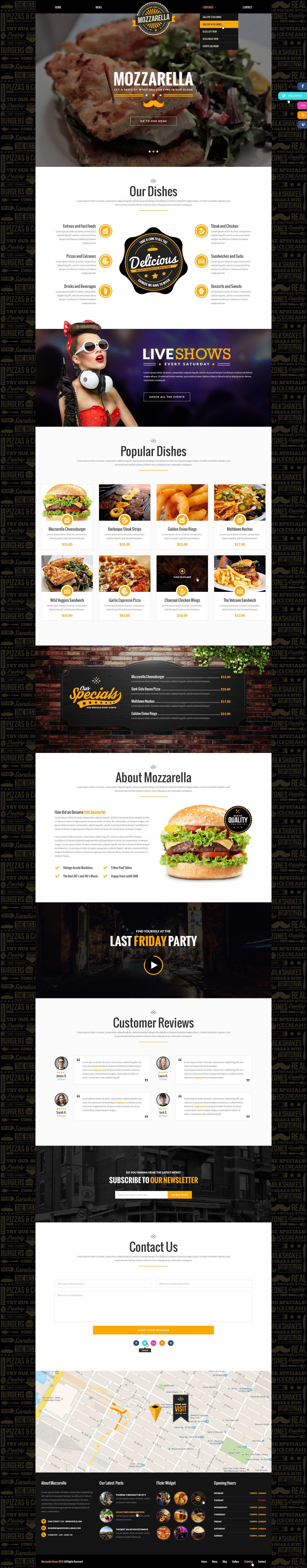 mozzarella cafe bar psd template home bar and templates