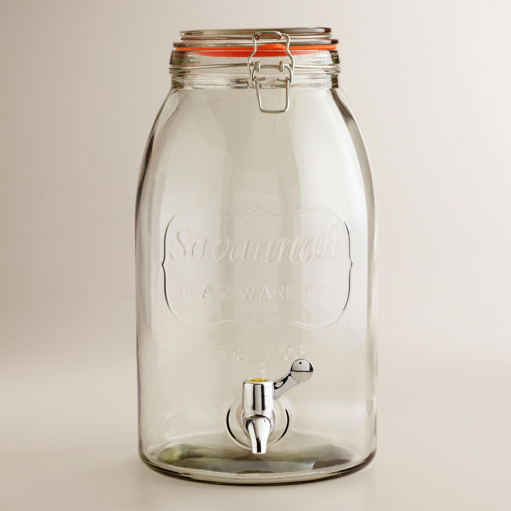 Savannah Embossed Drink Dispenser Drink Dispenser Jar Drink Dispenser Dispenser