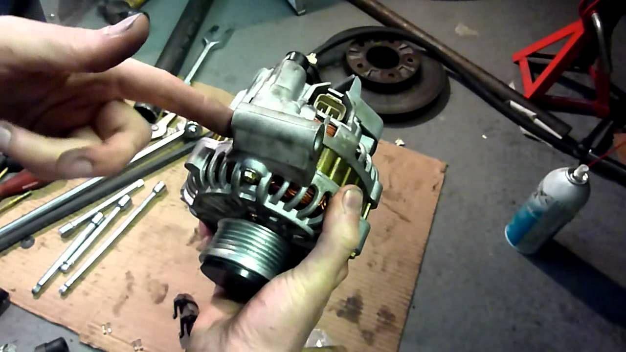 Mazda Mpv Alternator Replacement And Drive Axle Removal Alternator Mazda Axle