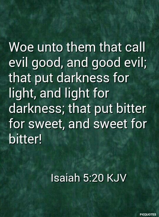Image result for woe to those who call evil good kjv