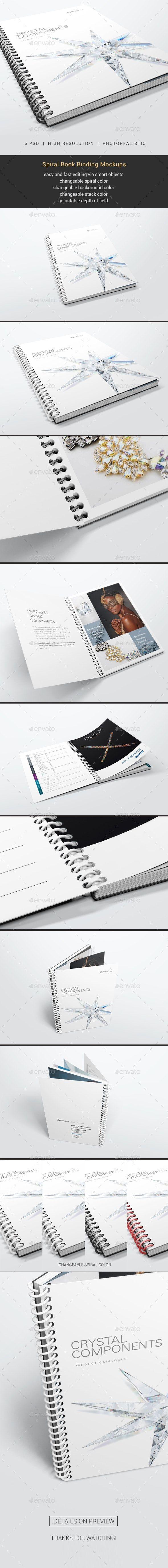 Spiral Book Binding Mockups 01 Spiral Book Binding Book Binding Print Mockup