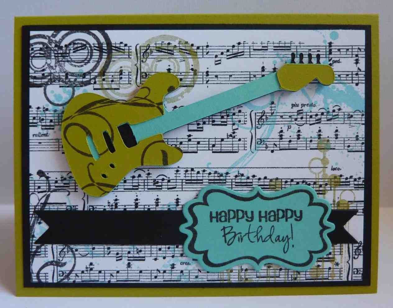 Stampin Up Musical Birthday Happy Birthday Black White Music Theme Full Size Of Template Free Mu Musical Cards Birthday Cards For Boys Birthday Cards