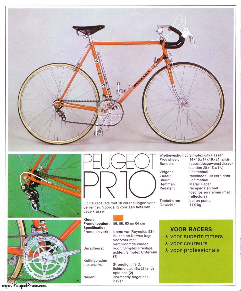1975 peugeot pr 10 catalog peugeot bikes pinterest peugeot bicycling and fixie. Black Bedroom Furniture Sets. Home Design Ideas