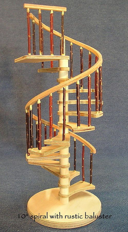 Best Rustic Miniature Spiral Staircase By Don Lorenzen Doll 640 x 480