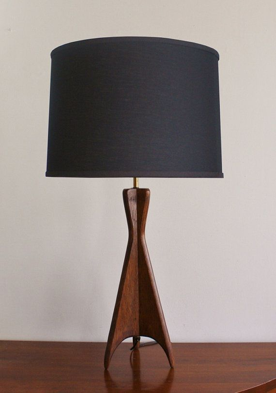 Midcentury Modern Wooden Table Lamp By Highstreetmarket On Etsy