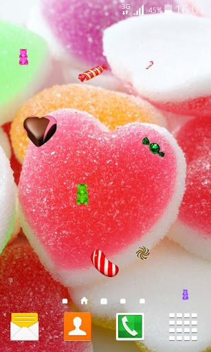 Get Something Sweet For Your Phone Download Candy Live Wallpaper Free App For Android And Enjoy Watching The M Download Candy Chocolate Pictures Best Candy