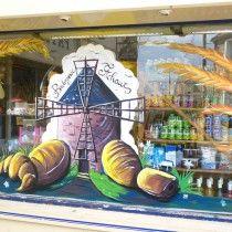 d coration de vitrine peint la main d co vitrine boulangerie pinterest d co. Black Bedroom Furniture Sets. Home Design Ideas