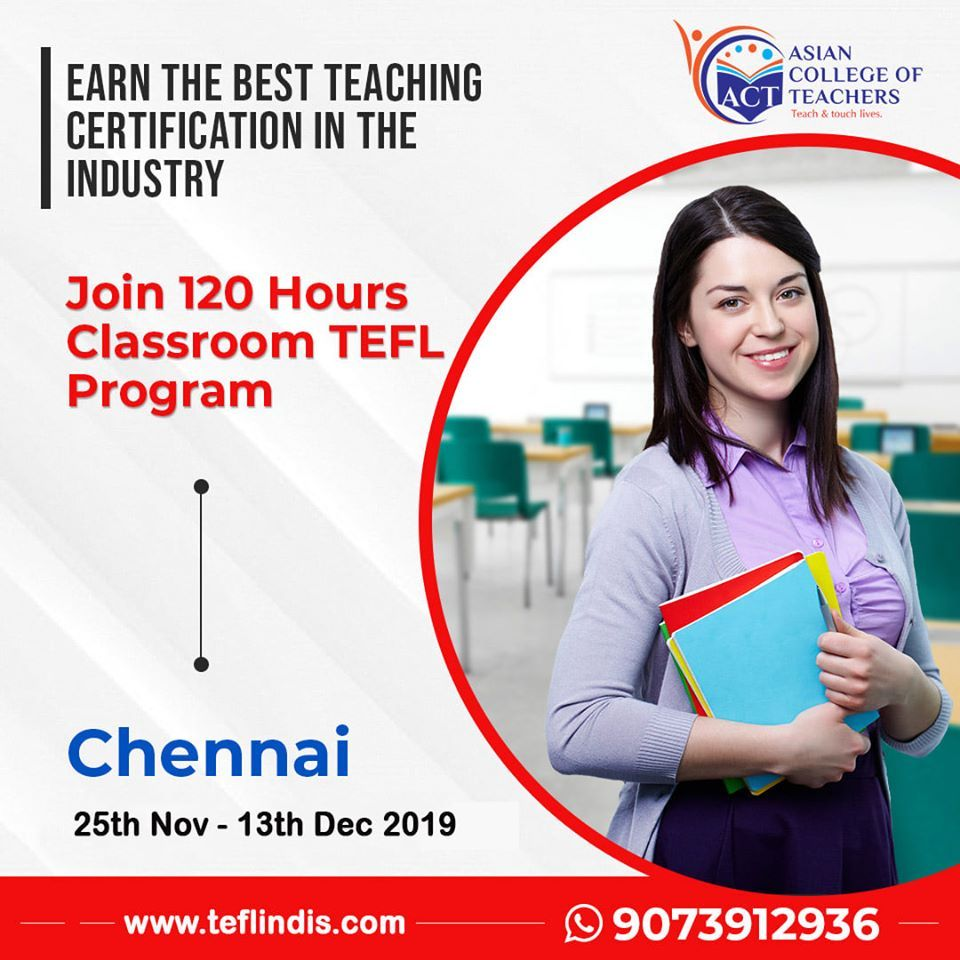 Now get the opportunity to teach abroad. Join the three