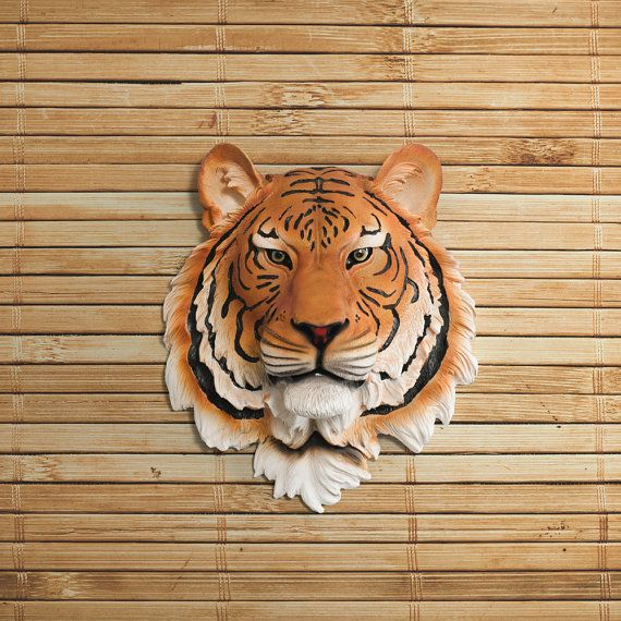 Tiger Head Faux Taxidermy The