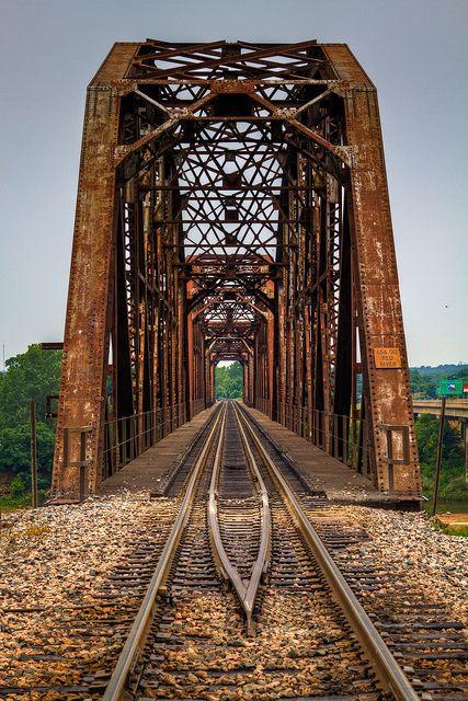The Red River Railroad Bridge In 2019 Railroad Bridge