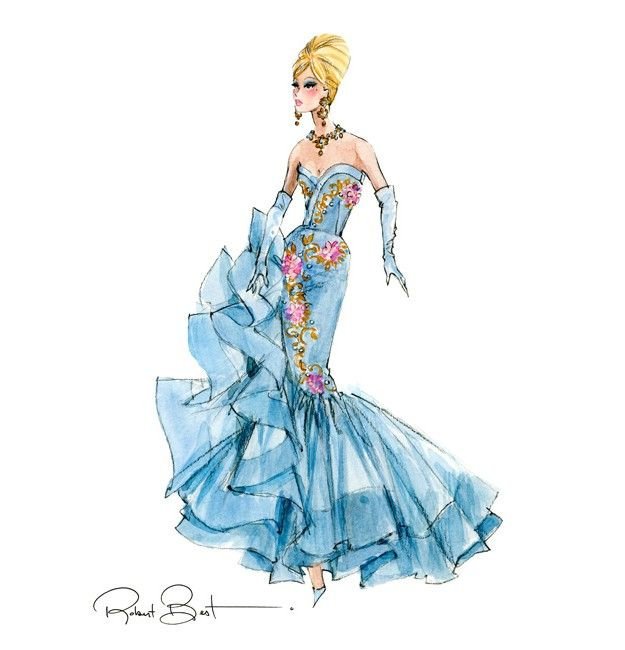 Barbie Silkstone Tribute Doll Sketch by Robert Best