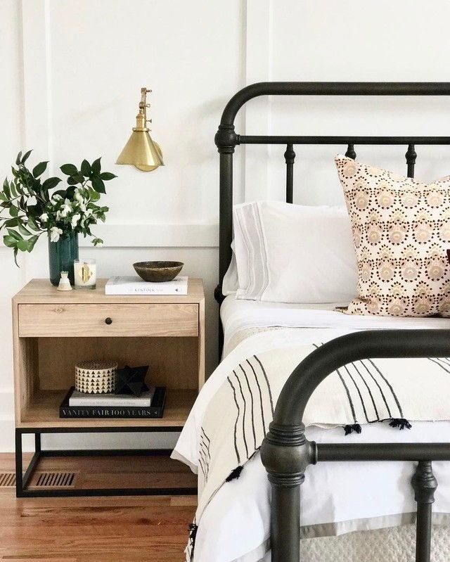 My Husband Has His Grandmother S Black Antique Wrought Iron Bed When We Got Together