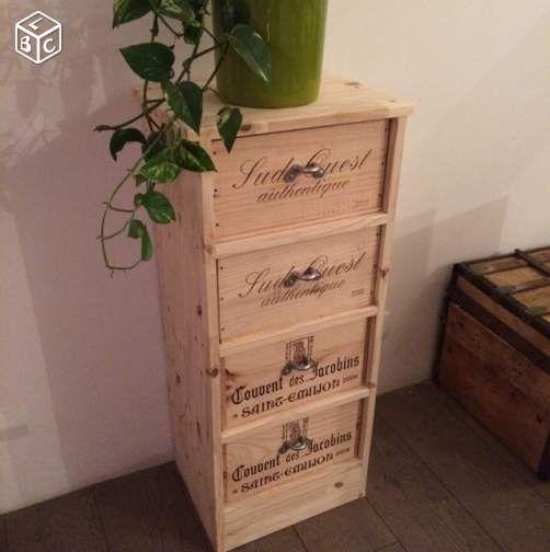 colonne caisse vin ameublement tarn et garonne caisses vin et cageots. Black Bedroom Furniture Sets. Home Design Ideas