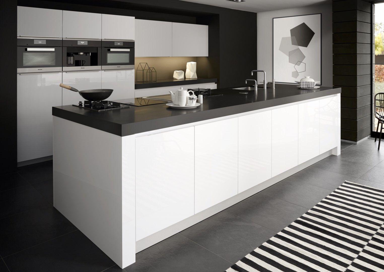 Strakke Witte Keuken : Inrichting strakke witte keuken alphaworks