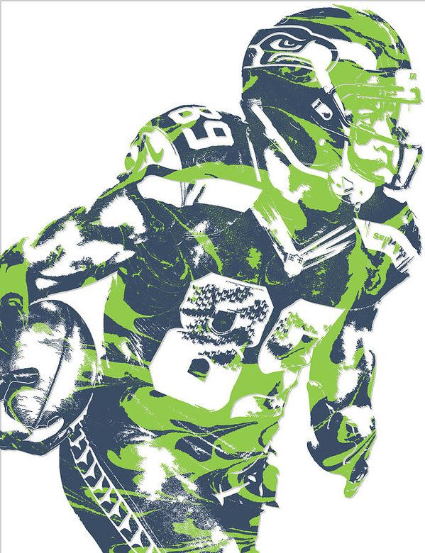 c169cab0 Doug Baldwin Seattle Seahawks Pixel Art 6 Art Print | Seattle Sports ...
