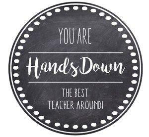 Thank You Teacher Appreciation Tags Free Printable Teacher