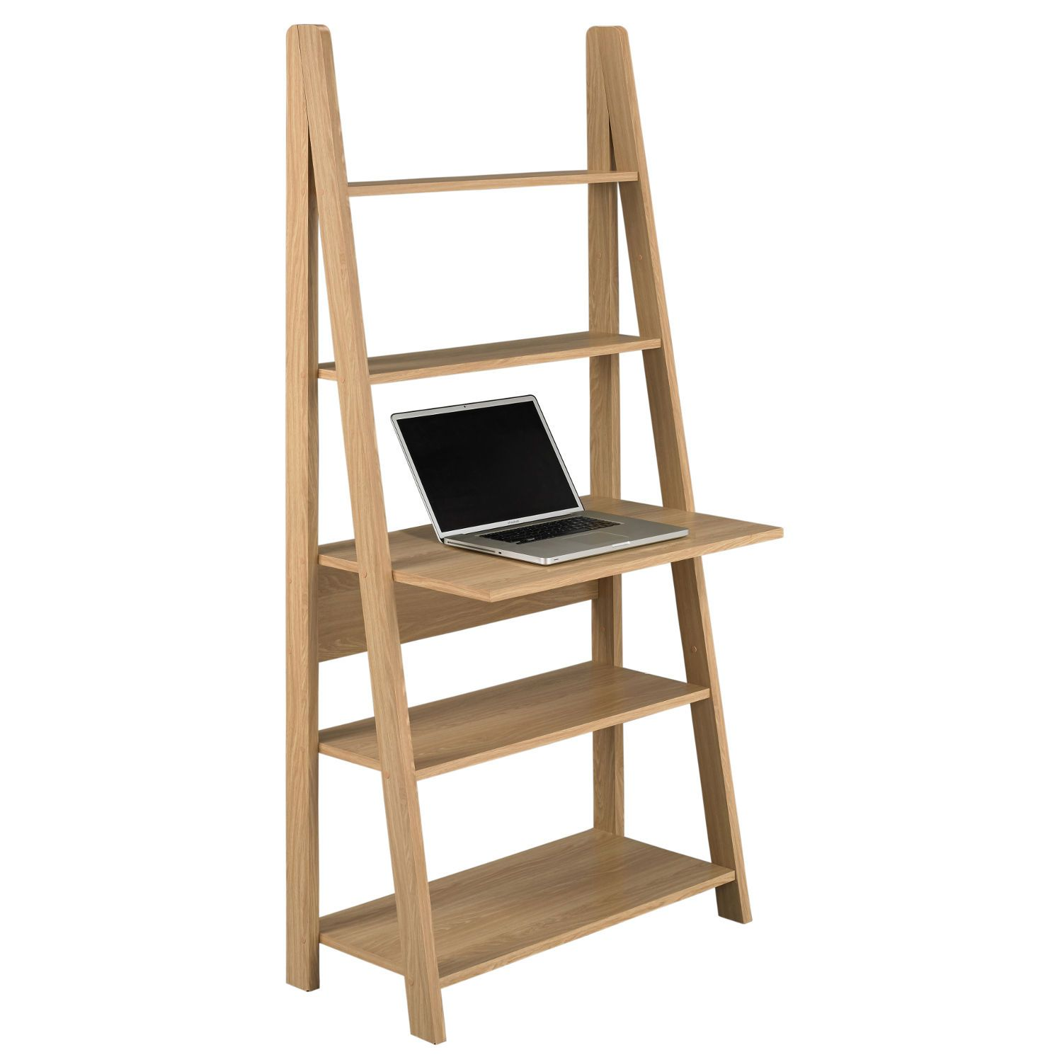 Tiva ladder desk oak desks office furniture and room