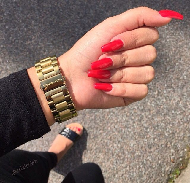 Red Nails pinterest: b_ox
